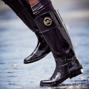 MICHAEL KORS TALL RAINBOOT STOCKARD RUBBER BOOT